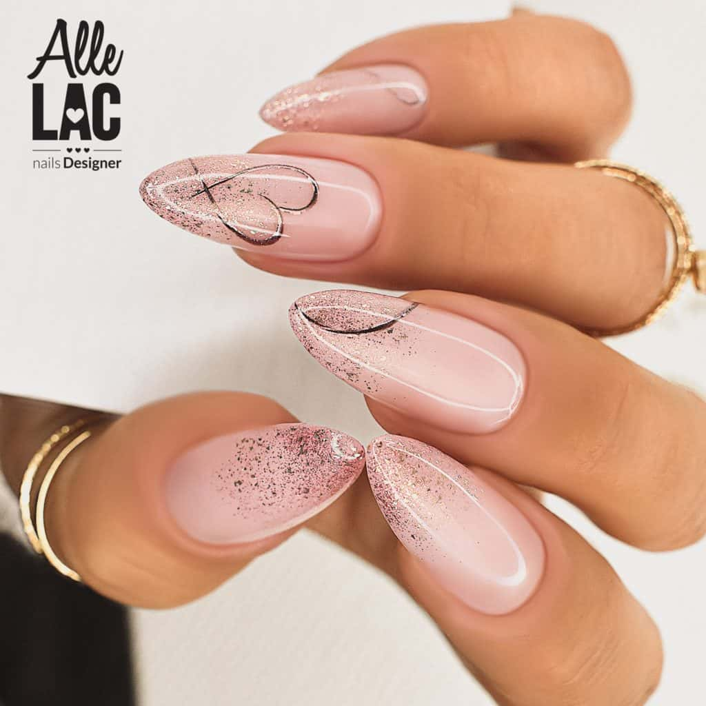 delikatny manicure kombinowany
