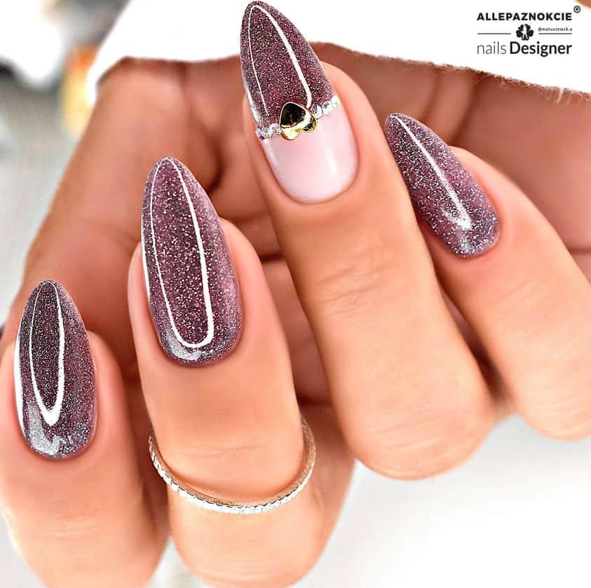 błyszczący manicure hybrydowy