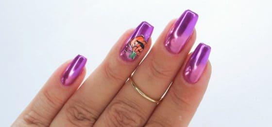 stylizacja paznokci hybrydowych z dynią