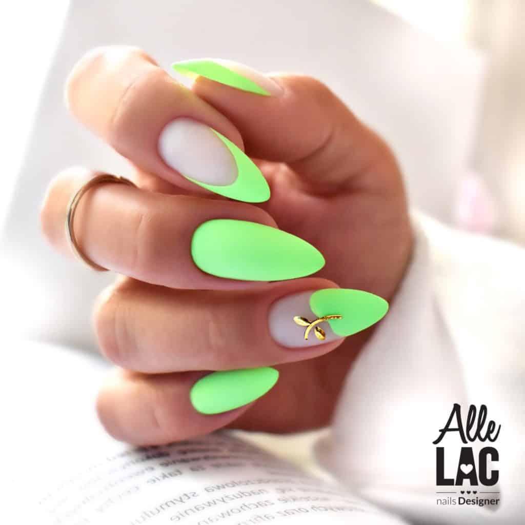 intensywne kolory lakierów hybrydowych zielony french