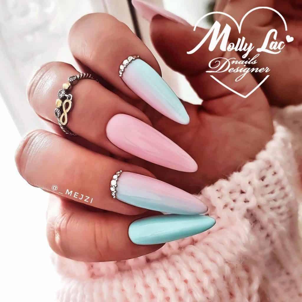 trudne kolory w manicure hybrydowym pastelowe ombre