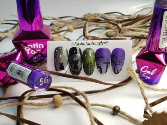 wzory na paznokciach na halloween