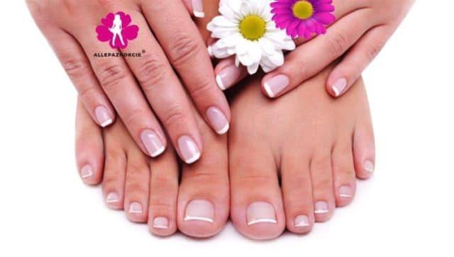 zadbane paznokcie u stóp pedicure